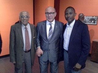 Ahmed Kathrada, Trevor Manuel and Dewhard Mupenda