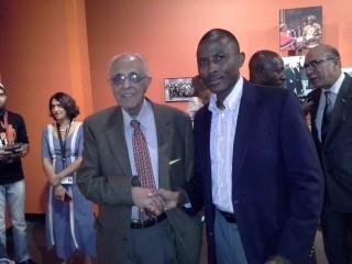 Ahmed Kathrada and Dewhard Mupenda