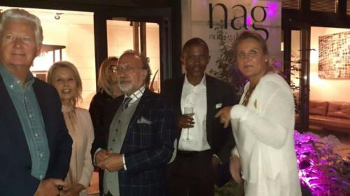 Dewhard Mupenda visit to (NAG) Not a Gallery Jonone Exhibition Paris 2019